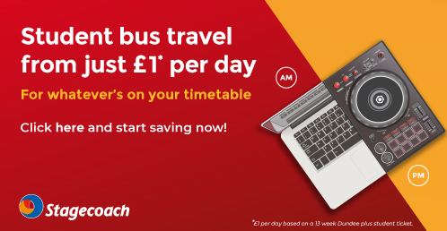 Stagecoach Advertisement - Student Bus Travel From Just £1 Per Day
