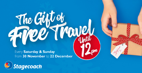 The Gift of Free Bus Travel From Stagecoach.
