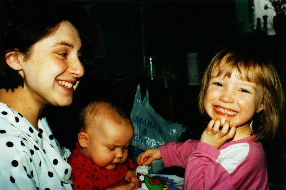 Philippa with baby girls