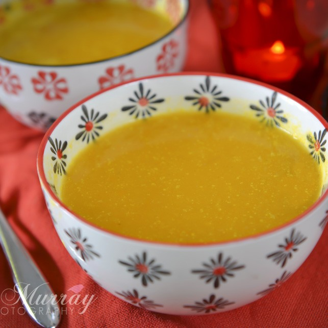 Enjoy this butternut squash soup simply or add some chilli for a kick!