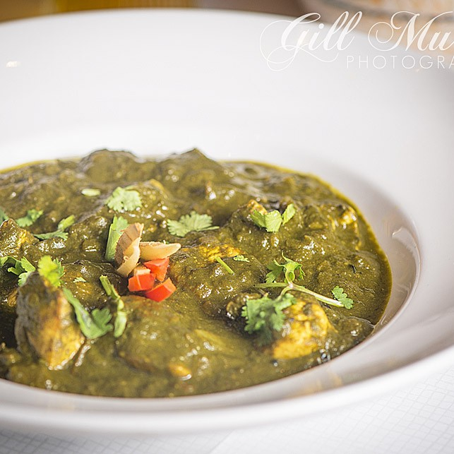Palak Murgh is chicken with spinach, and is one of Praveen's favourite dishes