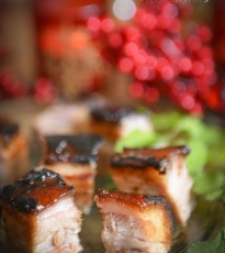Honey Glazed Pork Belly Squares with Chinese 5-Spice
