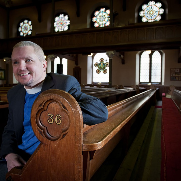 Holy Whitewater Rev Scott Burton St Matthews Church in Perth City Centre