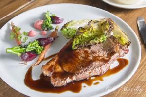 Dexter Beef with Vacherin Potatoes and Seasonal Vegetables