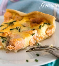 Easter Brunch Salmon & Chive Quiche