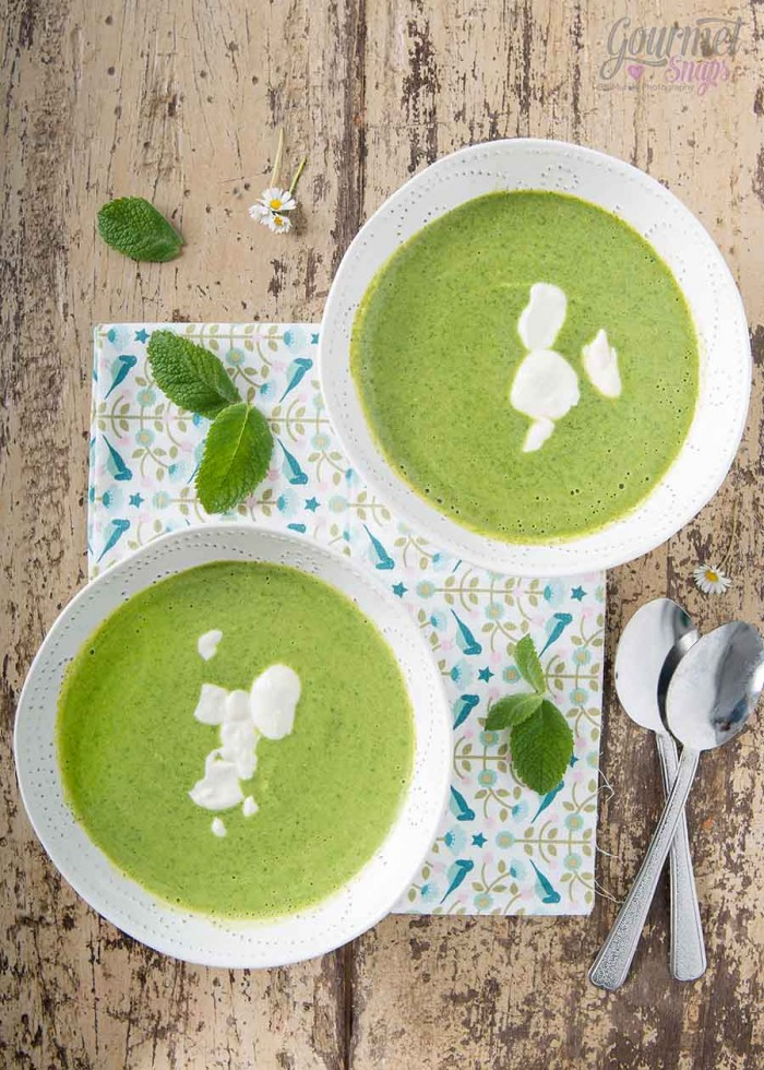 Watercress Soup with a Creamy Swirl 3