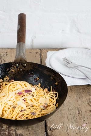 Chorizo & Mushroom Carbonara