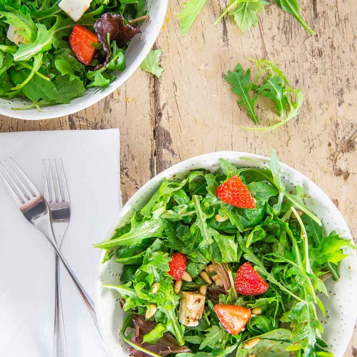 Strawberry Picking and & Summer Salad