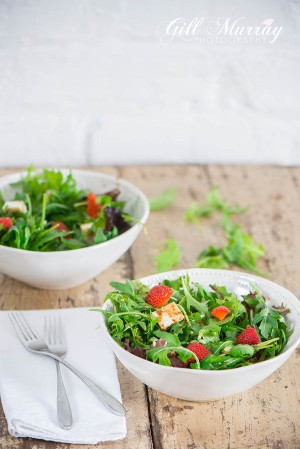 Strawberry Picking & Summer Salad
