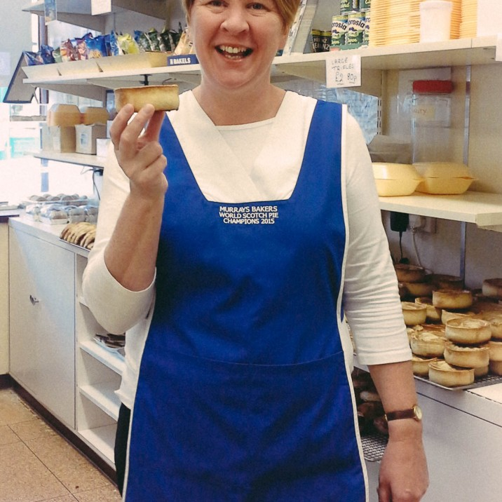 Linda from Murrays Pies in South Street is a well kent face in the Small City!