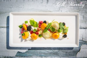 Andrew Moss of North Port loves foraging and this tasty fruit salad comes from the wilds of Perth. Served with a honey curd, its is a beautiful way to end a meal.