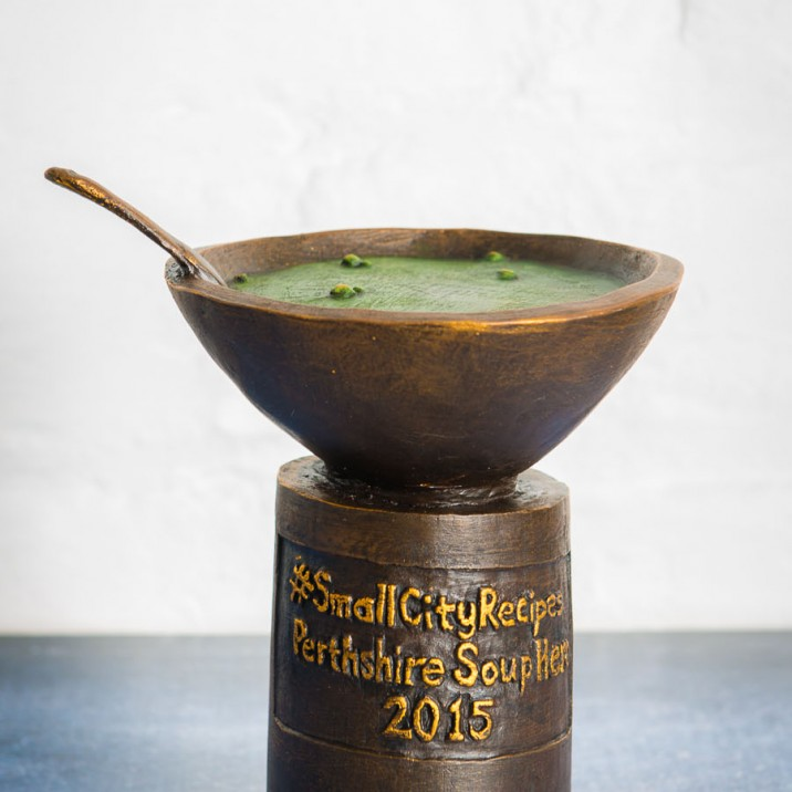 The amazing soup trophy from Julian Jardine - artisan craftsmanship from the Small City!