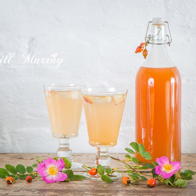 Enjoy delicious Rosehip cordial