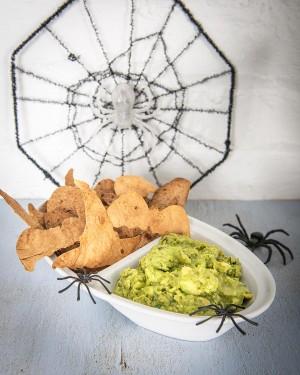 Ghoulish Guacamole & Spooky Crisps