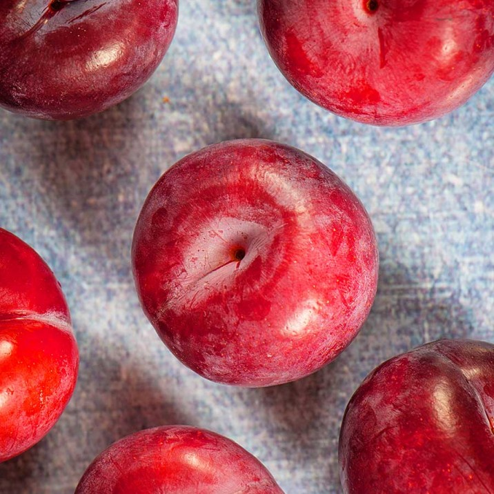 Delicious plums for a warming winter crumble.