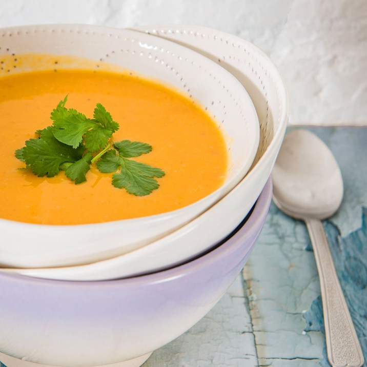 Tasty Butternut Squash and Orange soup to warm you through the winter months.
