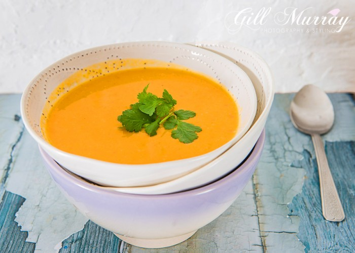 Butternut squash and orange soup 1