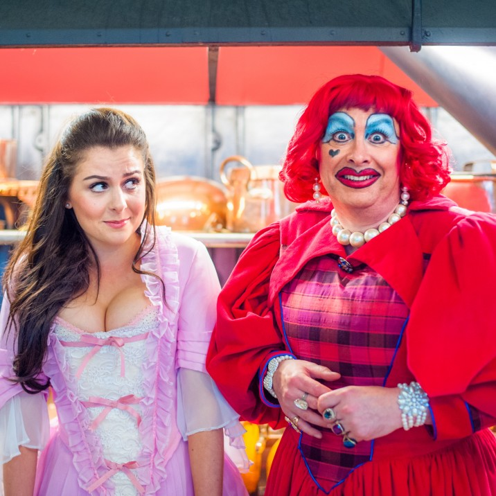LOOK BEHIND YOU! The Dame always gets the big laugh at Perth's annual Panto
