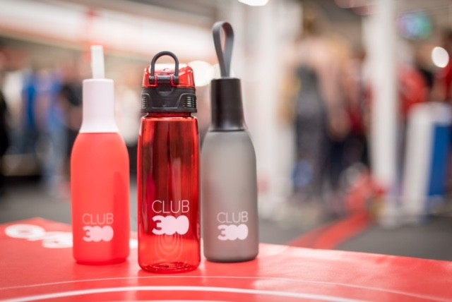 Club 300 water bottles