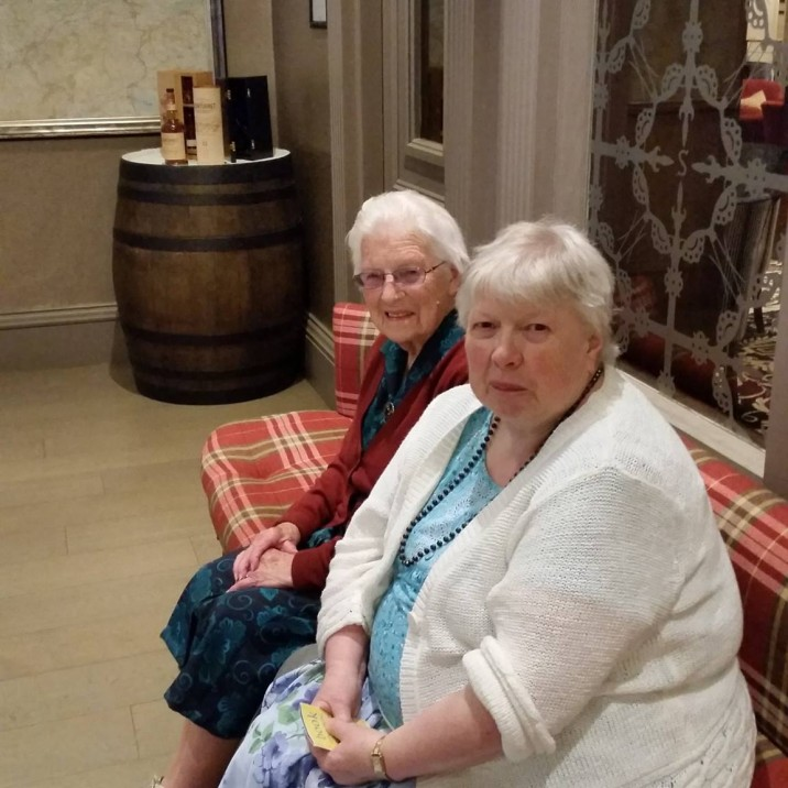 Adult Carer and cared-for enjoying a break at Crieff Hydro