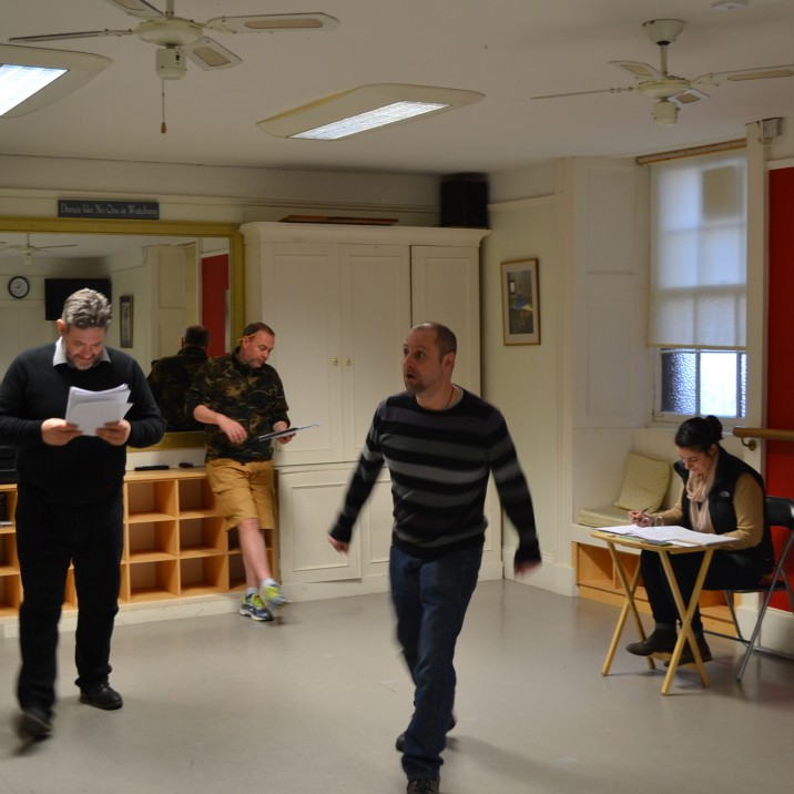 Ian Grieve giving direction during the two week rehearsals.