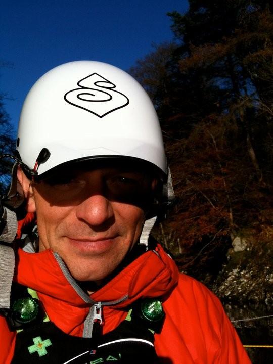 John Mason-Strang white helmet