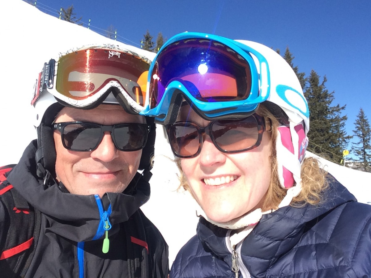 John Mason Strang Skiing Kate