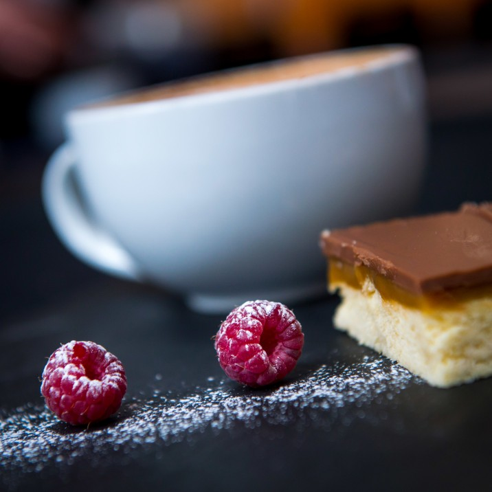 Coffee and Millionaire's Shortbread. Can lunch get any better? Glassrooms Cafe in Perth Concert Hall serving up sweet treats all day.