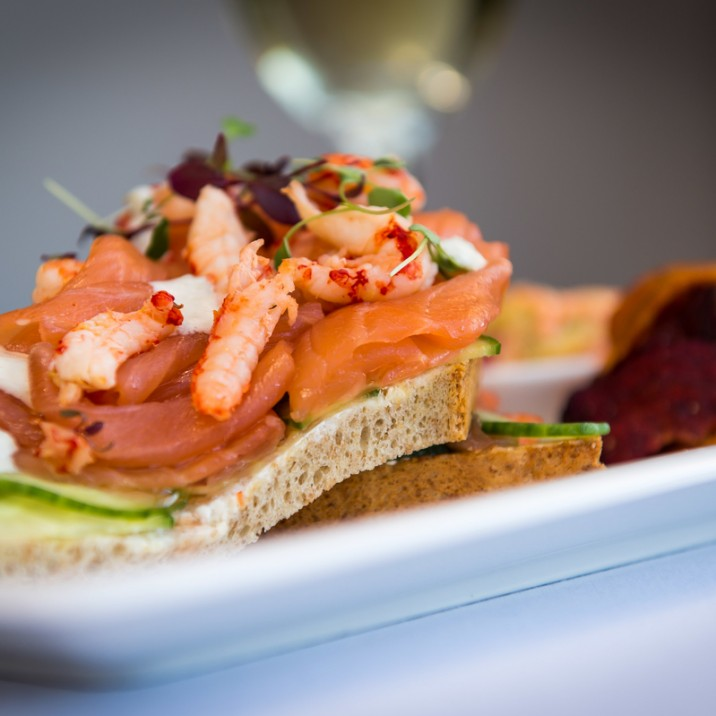 Parklands Salmon and Crayfish open sandwich is one of our favourites when visiting this fabulous lunch spot.