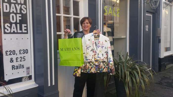Park up for fifteen minutes and you can nip in and try on a new jacket from Marians Boutique