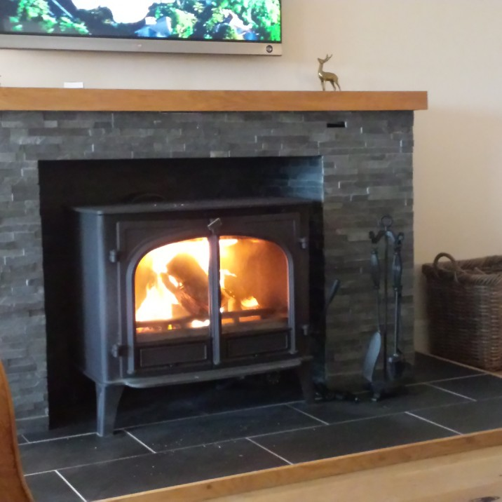 The woodburning stove was a fabulous, cosy addition to the house.