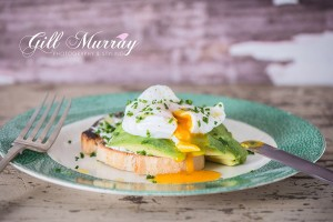 Poached Egg over Avocado and Sourdough