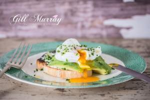 Poached Egg over Avocado and Sourdough