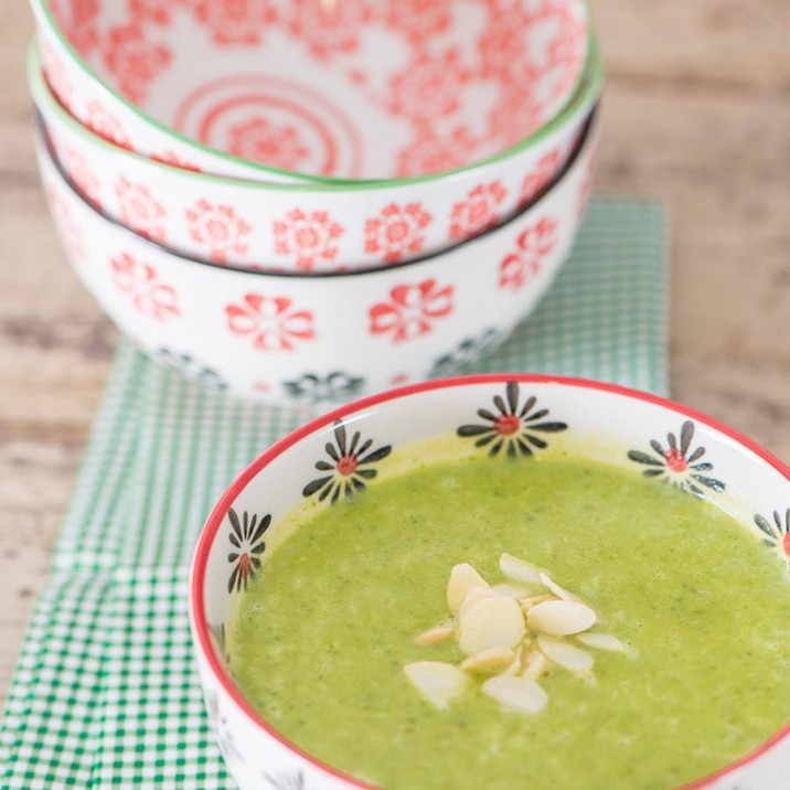 Deliciously tempting early spring green soup