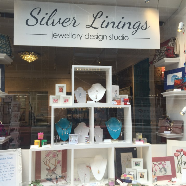 Contemporary jewellery and gifts predominantly handmade in Scotland at Silver Linings Jewellery Design Studio in Perth.