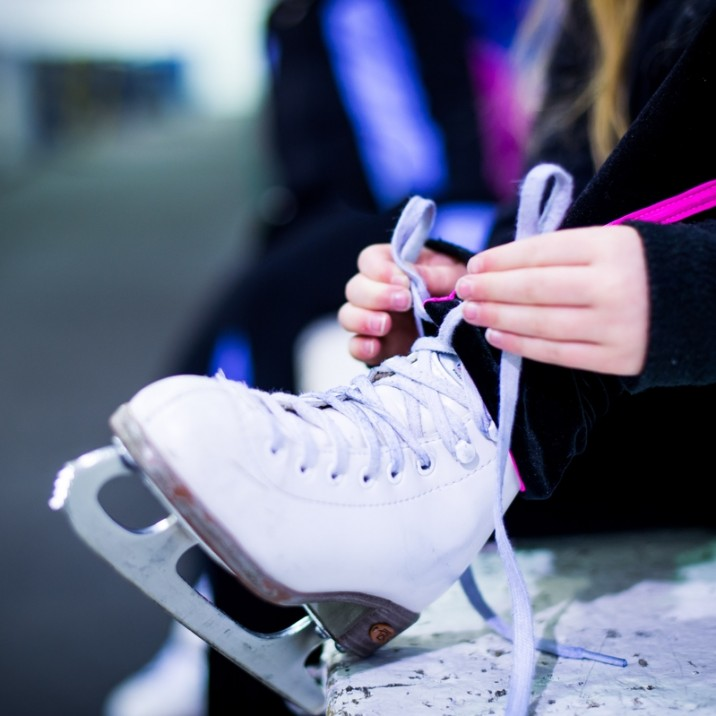 Getting all ready to get in the ice rink, you better get your skates on!
