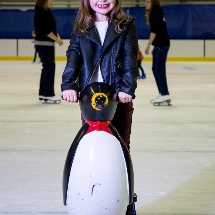 Fun on the ice with the Penguin skate helpers!