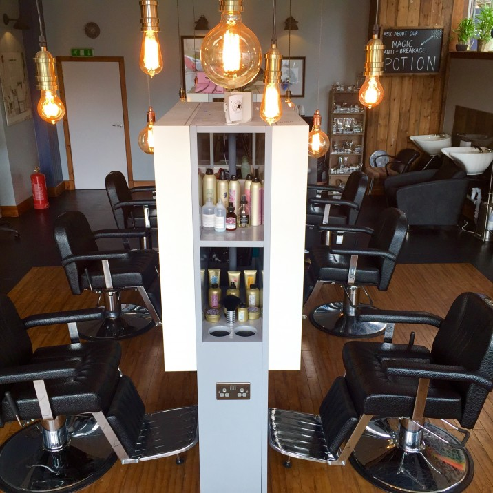 The new Rae Peacock Hair Salon on the corner of York Place has a bright, spacious and modern feel, with loads of quirky extras thrown in as well!
