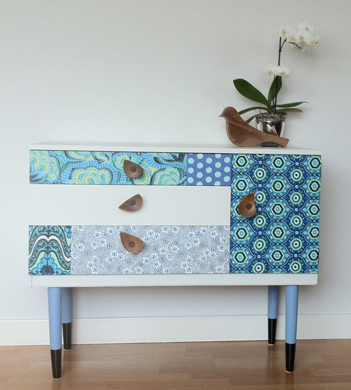 SARAHS ATTIC - Blue Sideboard Tallulah