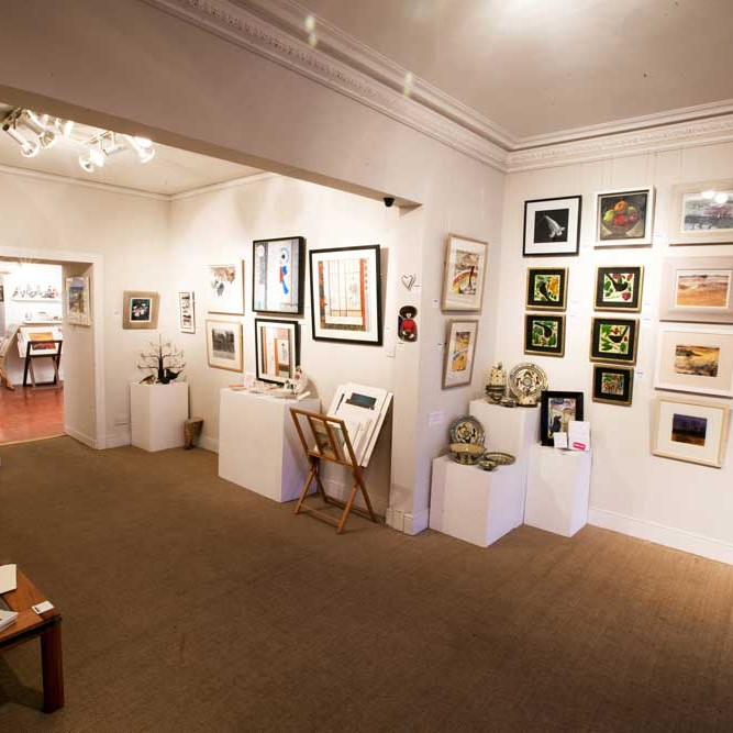 Art gallery with a bespoke framing service.