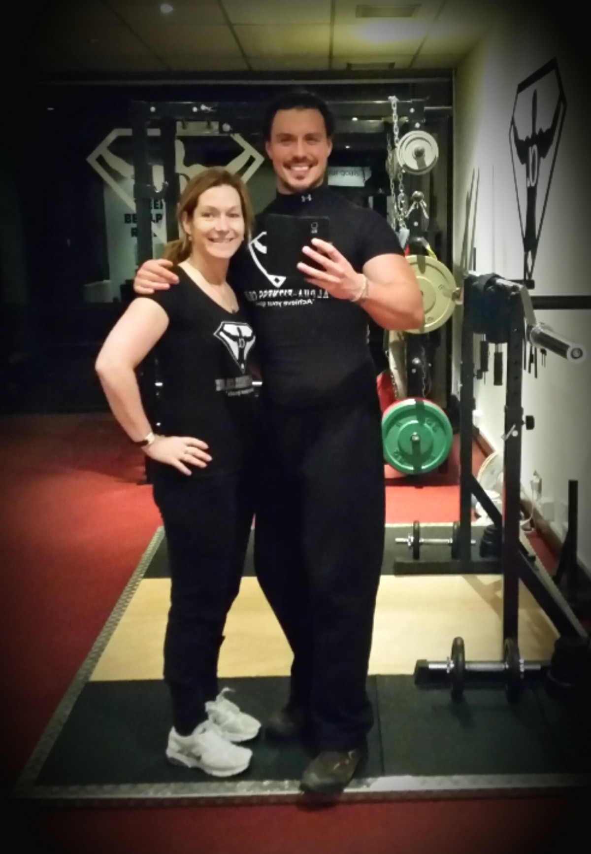Get Fit Alpha Fitness Jonathan and female client