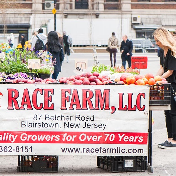 Race Farm, LLC stall from Blairstown New Jersey.  They have been growing quality produce for over 70 years!