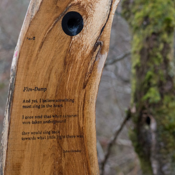 The attention to detail is amazing, especially with this poem that has been scribed into wood.