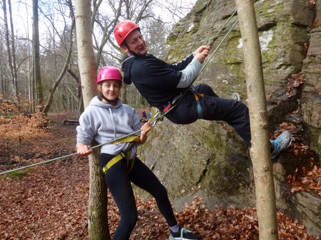 Outdoor Adventures Biscuiteering Abseiling