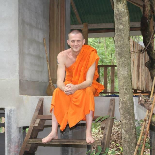 Graham Ross, ordained at the Wat Sriboonruang Temple in Fang, Thailand.