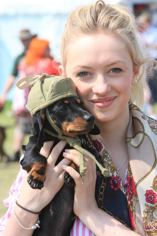 Game Fair girl with dog