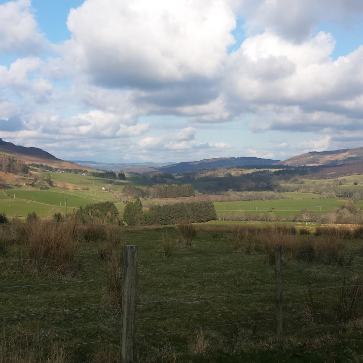 We enjoyed blue skies and clear views across Perthshire.