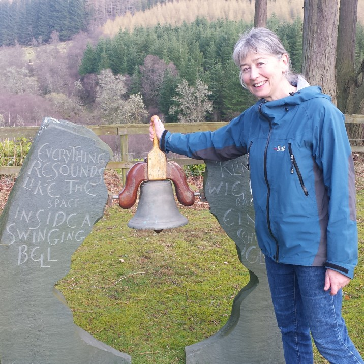 The bell at The Corbenic Poetry Path rings for locals and for visitors from all over the world.