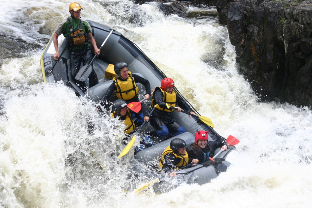 Outdoor Adventures Freespirits rafting rapid