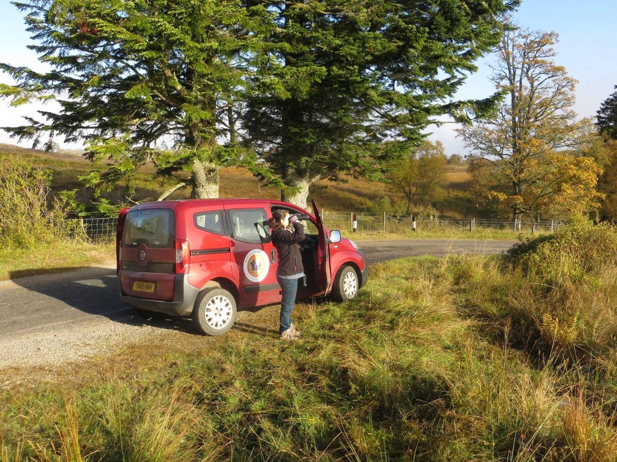 Outdoor Adventures Perthshire Wildlife binoulars